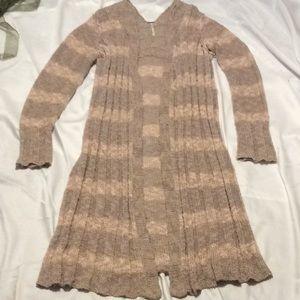 Free People Cardigan sweater, knee length, (M)